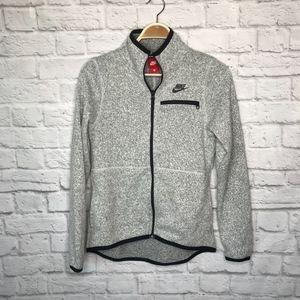 Nike heater gray thermal jacket